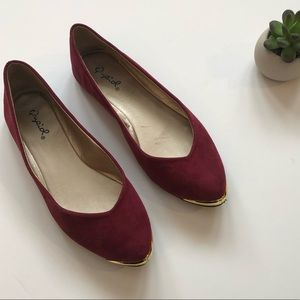 Shoes - Maroon suede flats | size 6